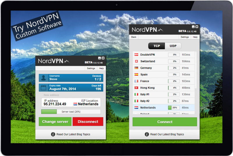 NordVPN custom software