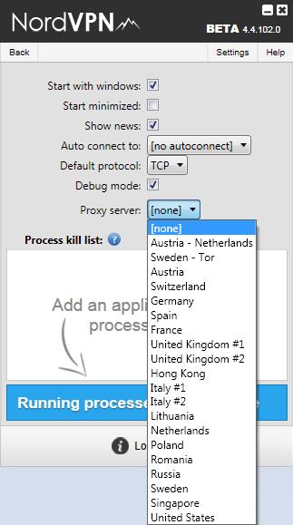 nordvpn proxy server
