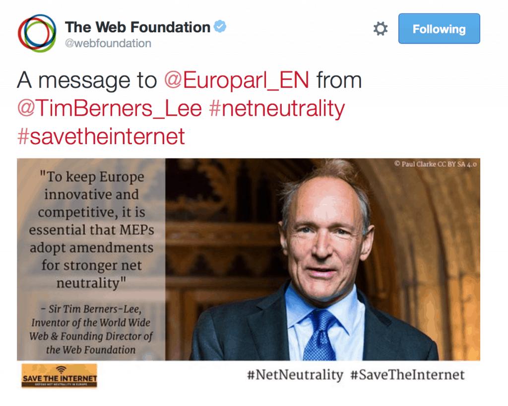 Net Neutrality Vote in EU 2