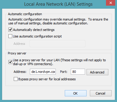 what should lan settings be