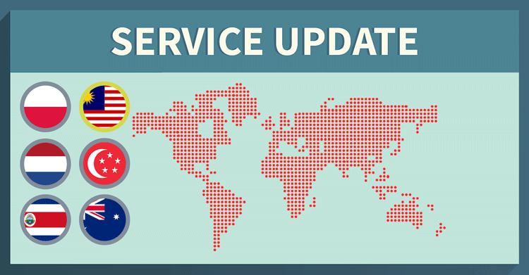 Service Update: 10 New servers added