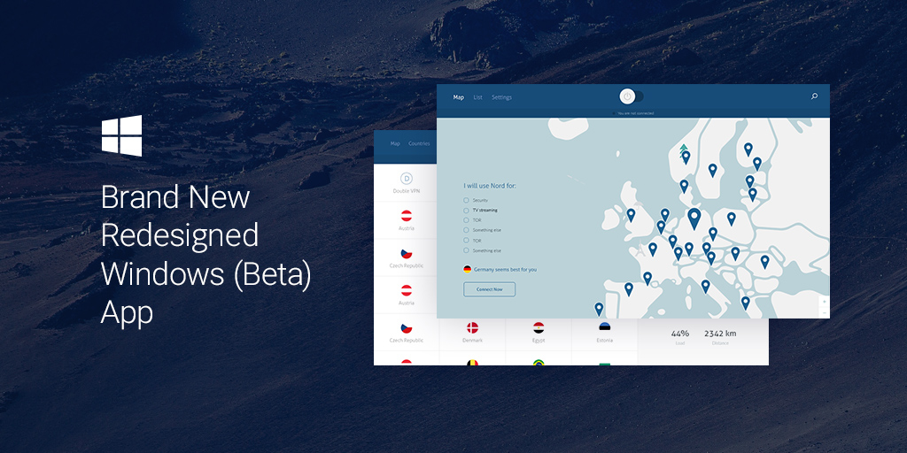 Redesigned Windows app by NordVPN available now