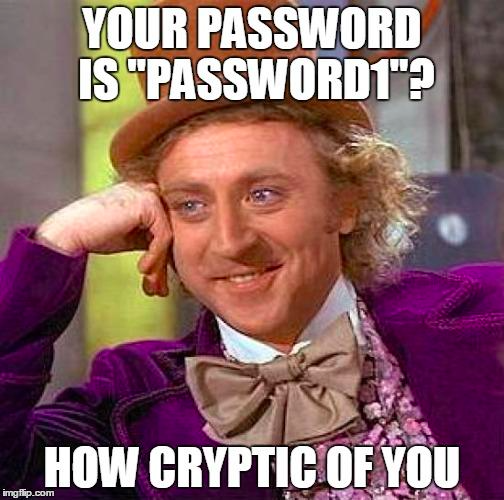Verwendung von 123456 als Passwort