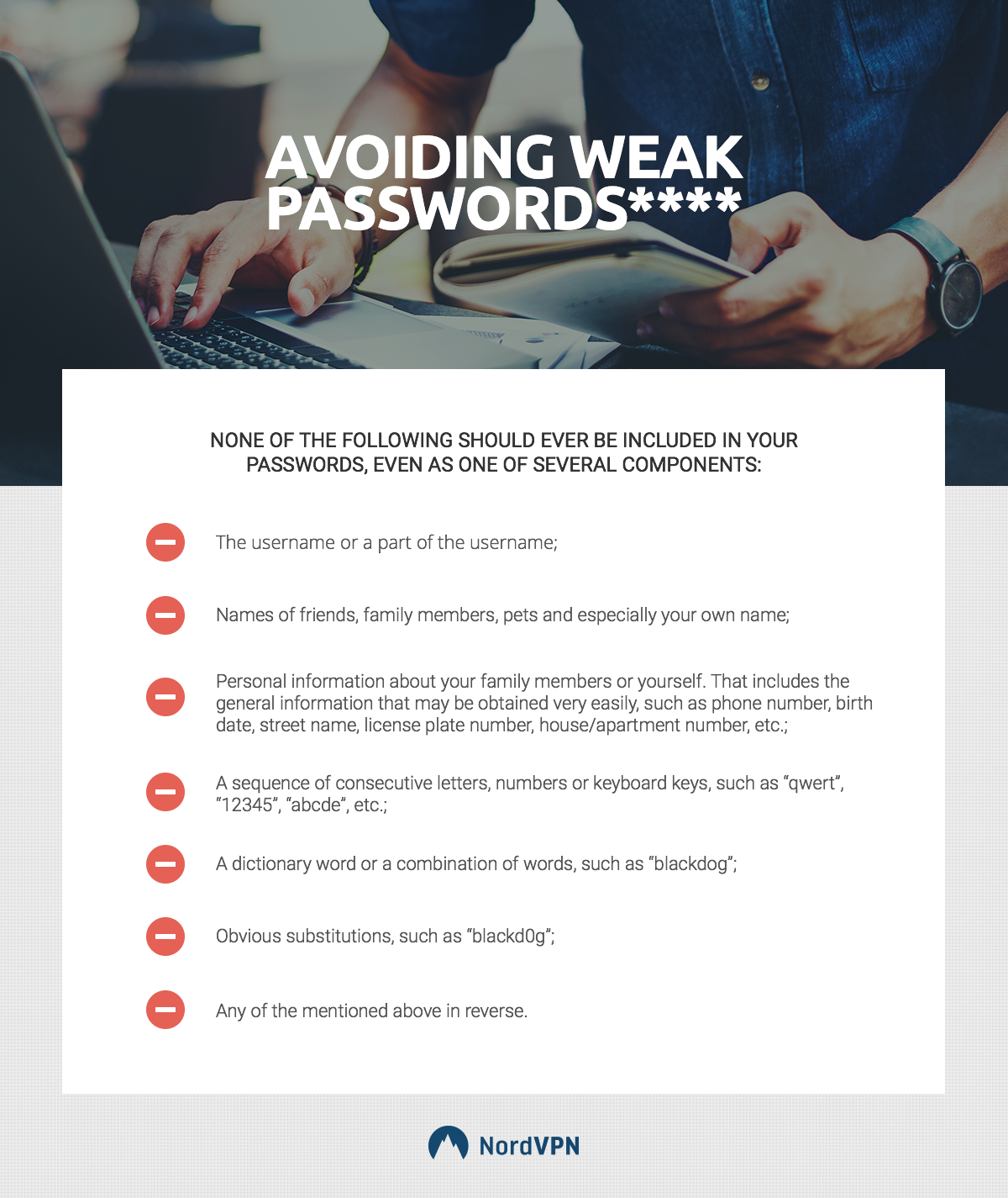 How to avoid weak passwords