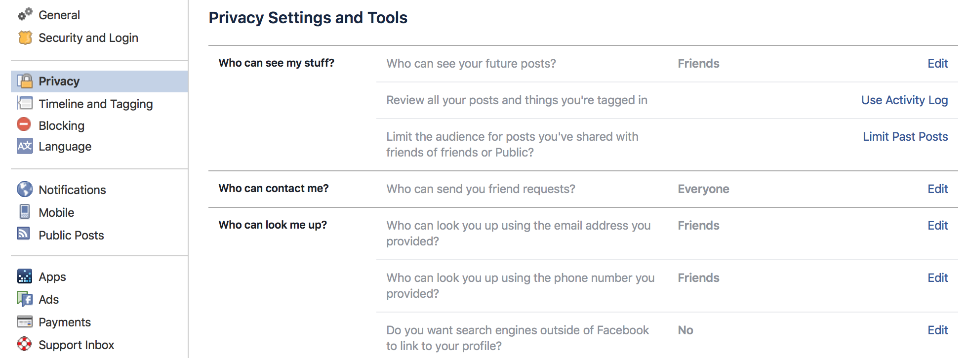 How to change your Facebook privacy settings