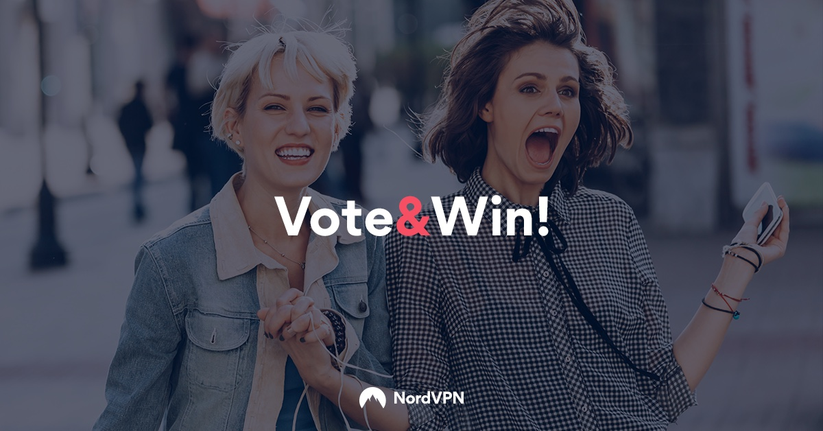 Vote in the BestVPN.com Awards and win a free NordVPN subscription!