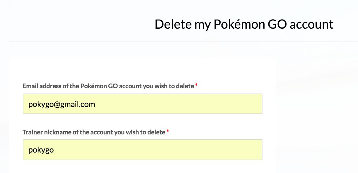 How to delete your Pokémon Go account