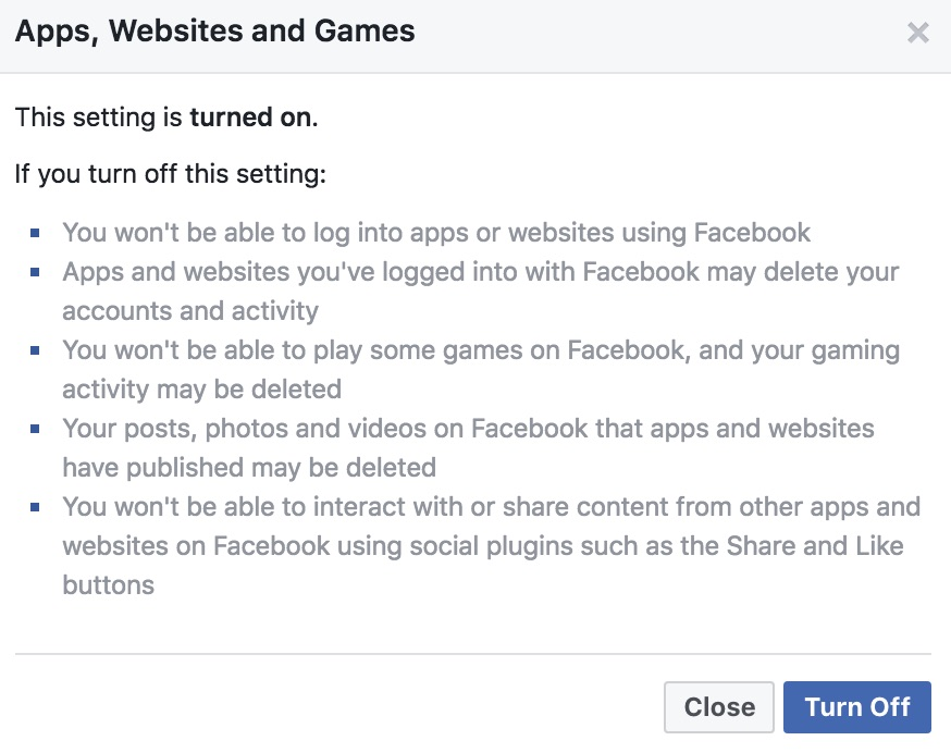 Stop Facebook sharing your info