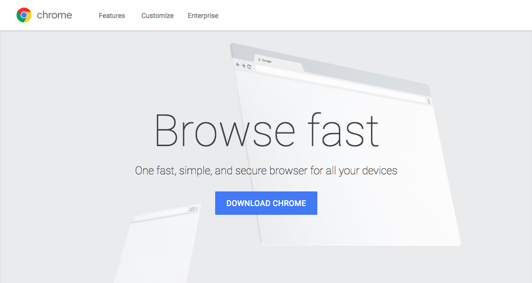 Chrome home page