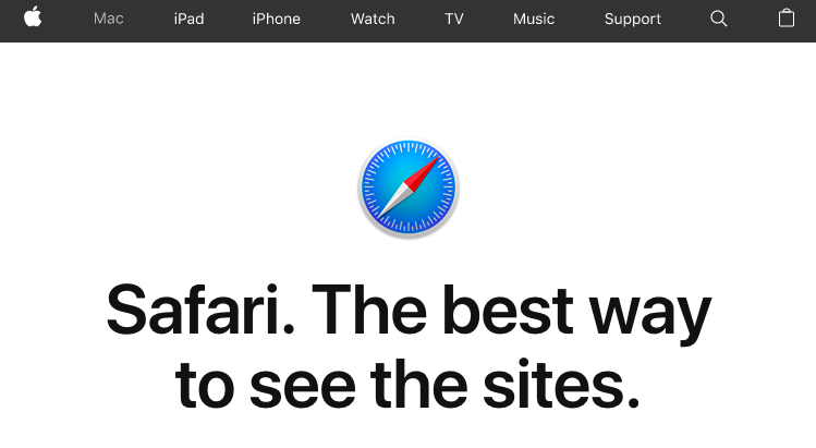 Safari home page