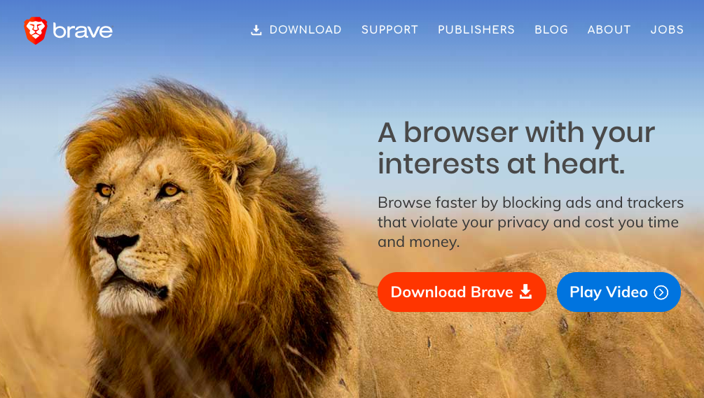 9th image alt text: Site do navegador Brave