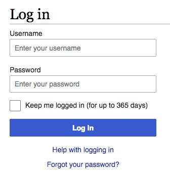 """Tela de login com opção """"Keep me logged in"""""""