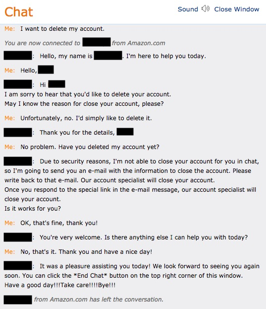 chat with Amazon customer service