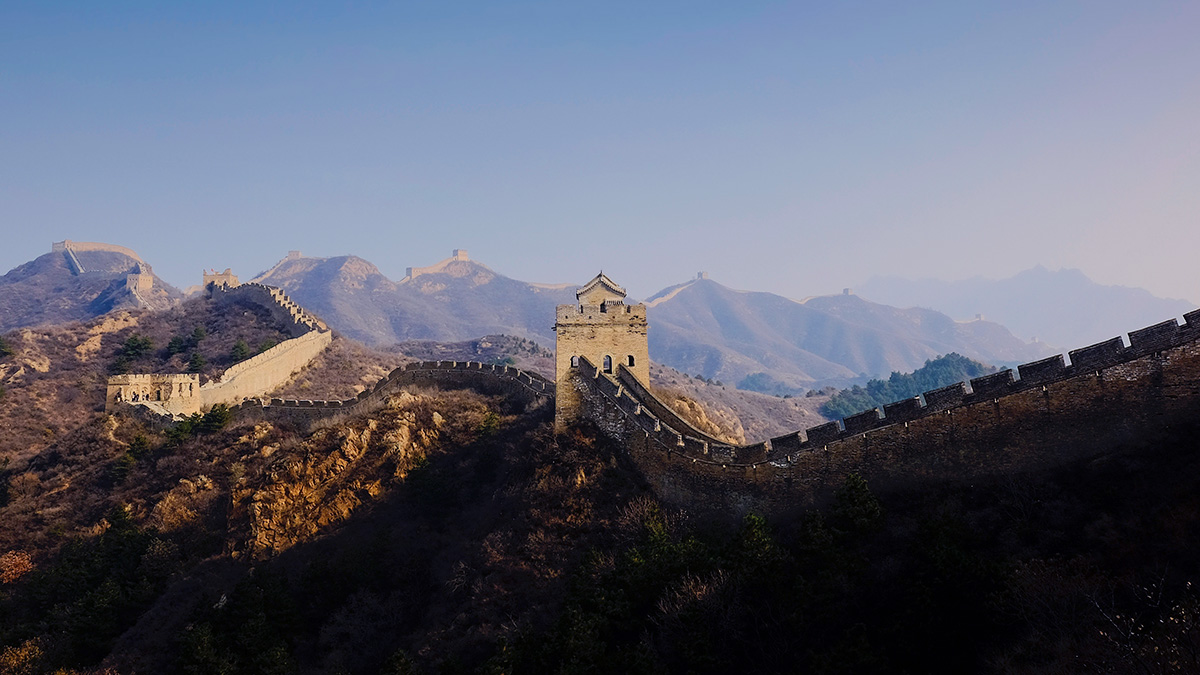 The Great Wall of China (the regular, non-fiery one)