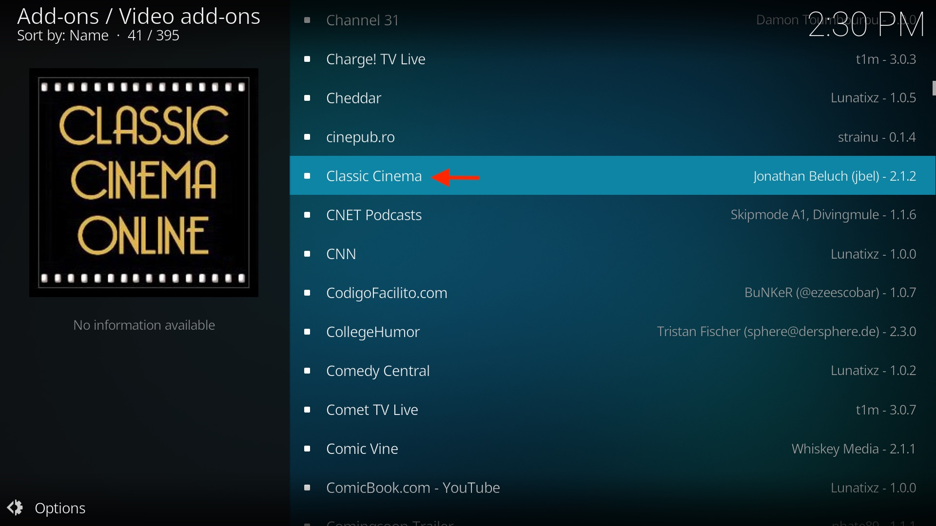 Choose your favorite Kodi movie add-on.