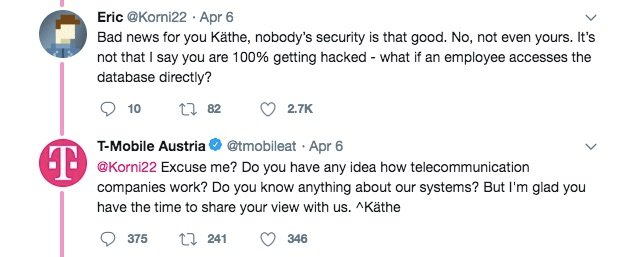 T-mobile passwords hacked on Twitter