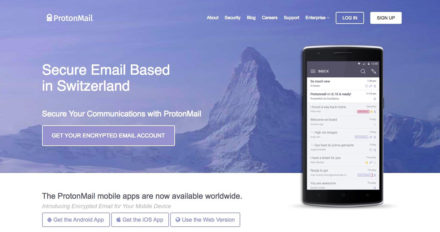 ProtonMail website