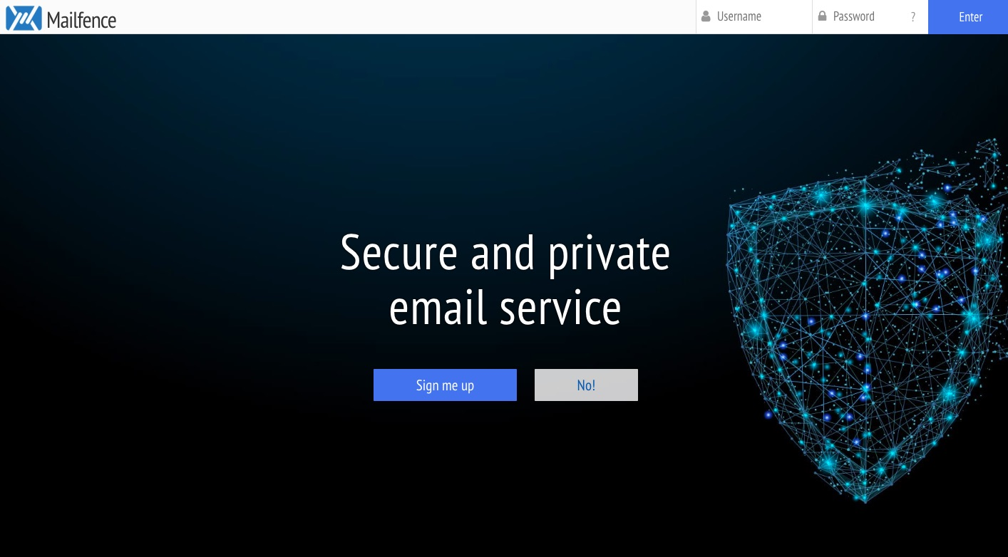 Mailfence website