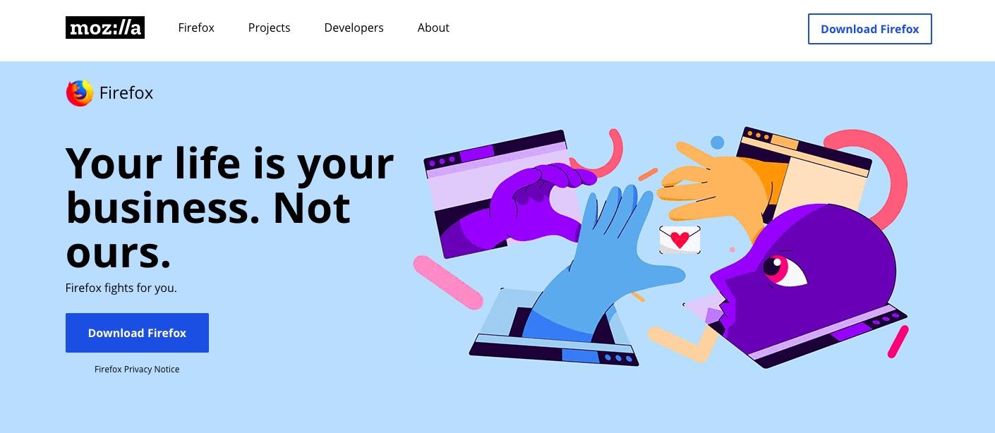 Firefox website
