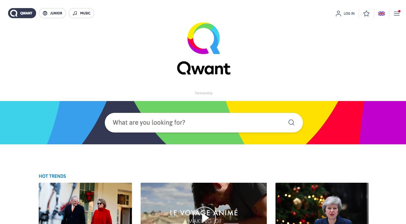 Qwant website