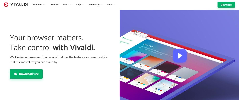 Vivaldi website