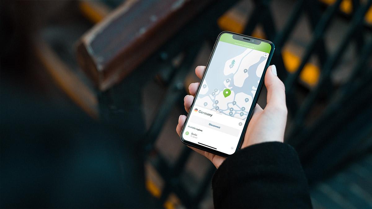 NordVPN app for online banking