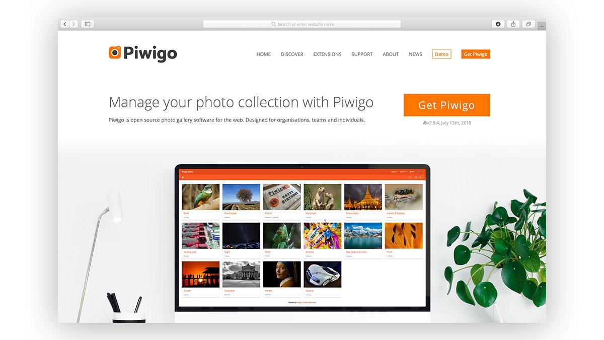 Piwigo landing page