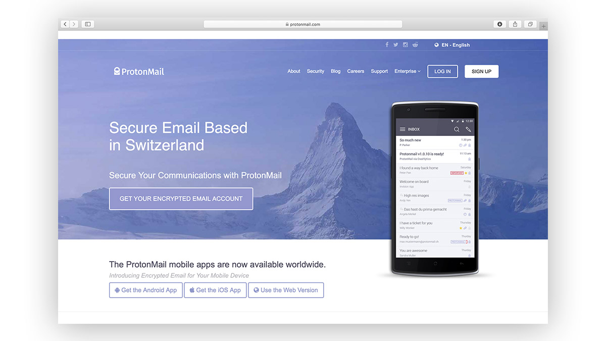 Gmail alternatives ProtonMail