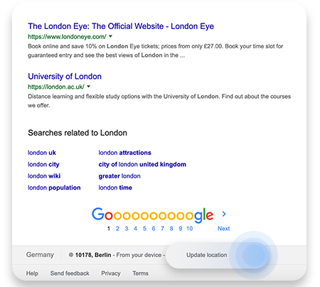 Spoof location on Chrome
