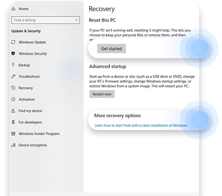 Refresh or recover your Windows installation to remove bloatware