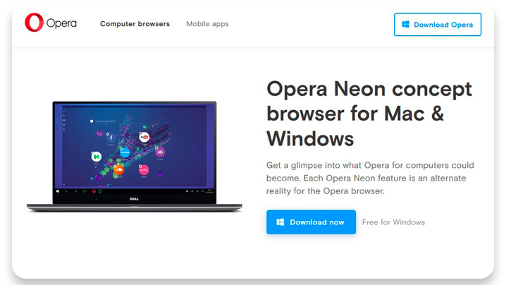 Opera Neon browser review