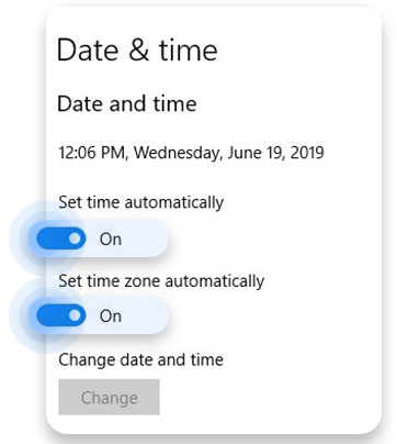 Check date and time on Windows