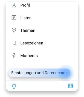 twitter account löschen (app): schritt 1