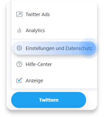 twitter account löschen (pc): schritt 1