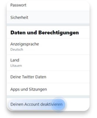 twitter account löschen (pc): schritt 2