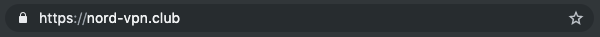 The fake NordVPN URL