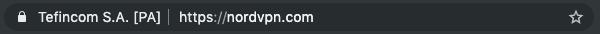 NordVPN's real URL
