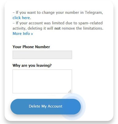 How to delete Telegram account