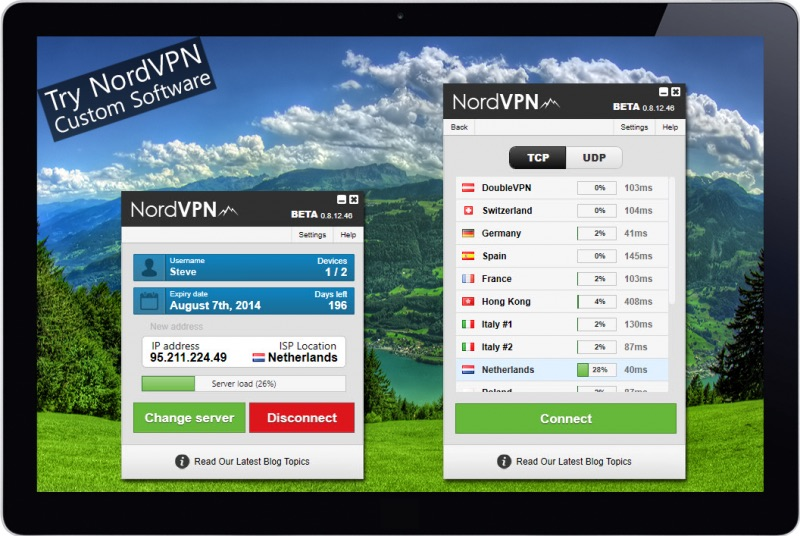 NordVPN custom software