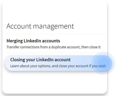 How to delete LinkedIn
