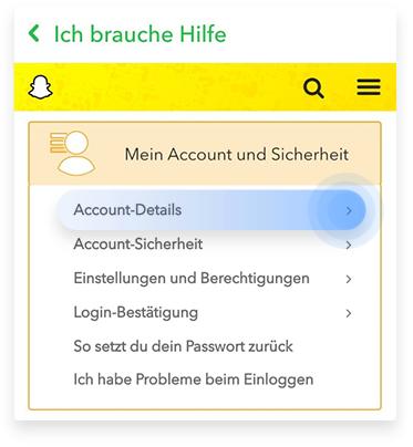 Wie kann ich meinen Snapchat-Account löschen zweiten Weg Schritt 5