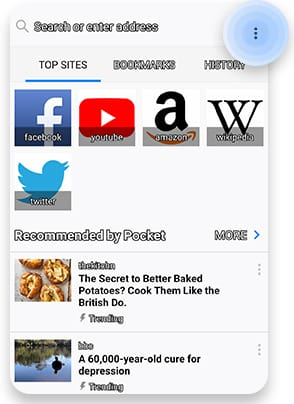 Delete cookies in Mozilla Android