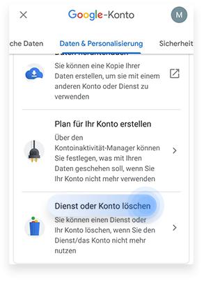 Ein Gmail Konto bei Android löschen Schritt 3