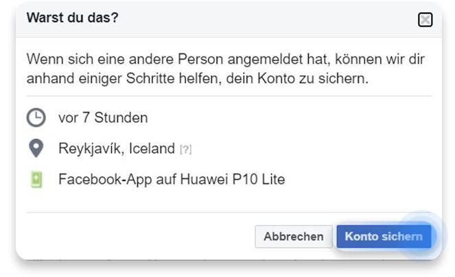 Facebook Gehackt Anzeichen