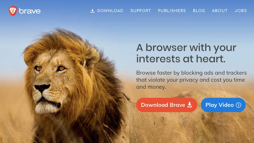 Brave home page