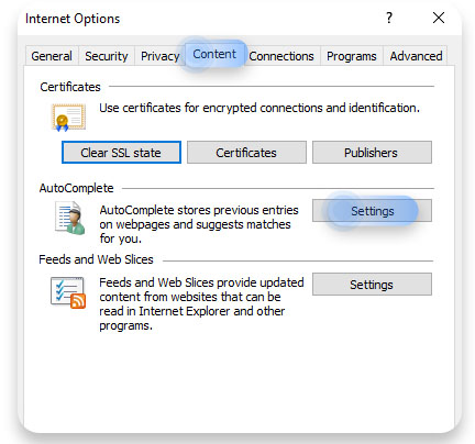 How to delete saved passwords in Internet Explorer