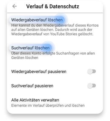 YouTube-Verlauf über die App löschen: Schritt 3