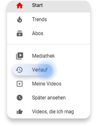 Vom Browser aus den YouTube-Suchverlauf löschen: Schritt 1