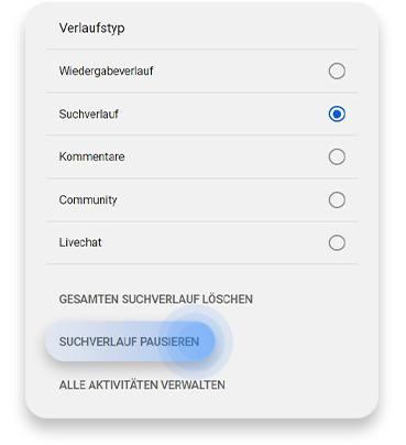 Vom Browser aus den YouTube-Suchverlauf löschen: Schritt 4