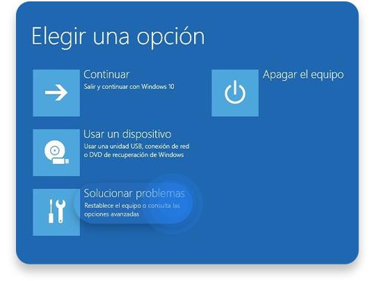 iniciar en modo seguro Windows 10: paso 2